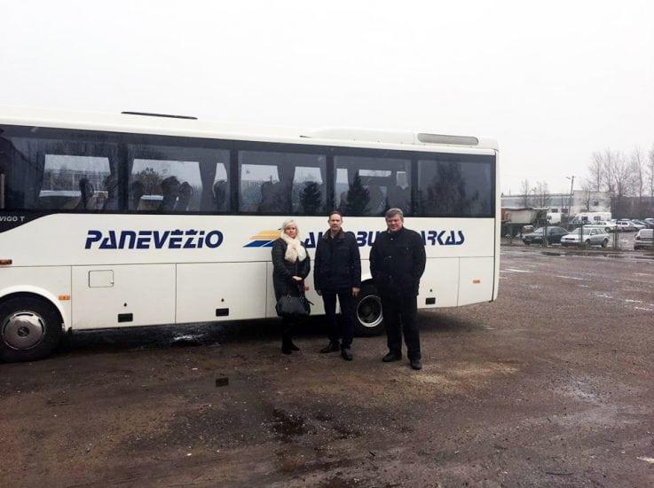 Dobeles autobusu parka pārstāvji viesojās Lietuvā