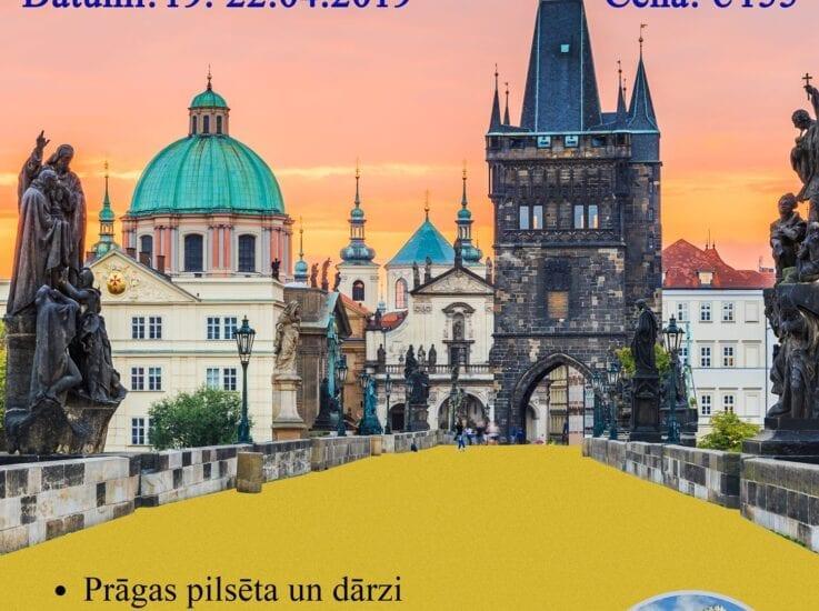 Bohēmijas pilis un Prāga pavasara ziedonī