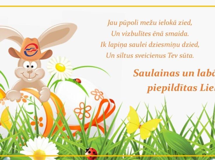 Priecīgas un labām domām piepildītas Lieldienas!