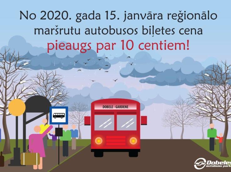 Braukšanas maksas izmaiņas no 2020. gada 15. janvāra.