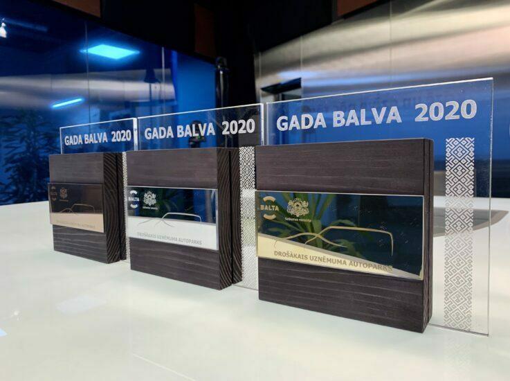 """Konkursā """"Drošākais uzņēmuma autoparks 2020"""" iegūts BRONZAS kategorijas apbalvojums"""